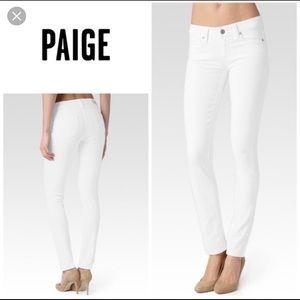 Paige Denim Skyline Skinny White Jeans Size 26